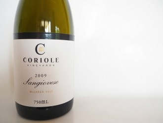 Coriole McLaren Vale Sangiovese 2009 wine tasting note review